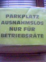 Foto: &quot;Parkplatz ausnahmslos nur f&uuml;r Betriebsr&auml;te&quot;<br /> &copy;maluca2006