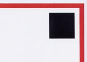 Schwarzes Qudrat als Briefmarken-Platzhalter