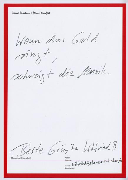 Manifest von Wilfried B.