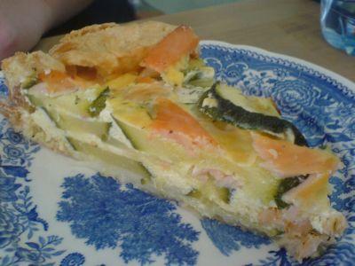 Zucchini-Lachs-Quiche