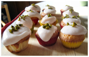 *pistazien cupcakes*