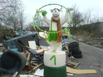 Unser Müllmaskottchen