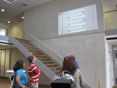 Twitterwall BarCamp Kiel 2010