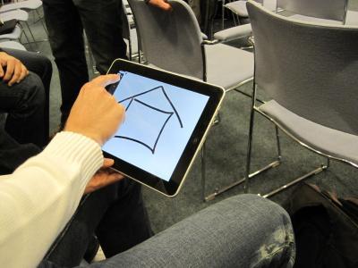 ein iPad zum Scribbeln