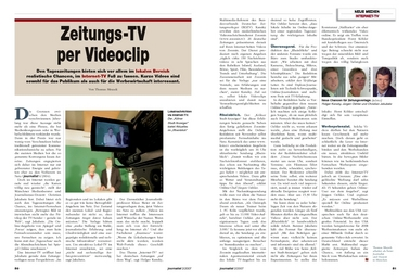 Artikel Internet-TV Journalist 2/2007