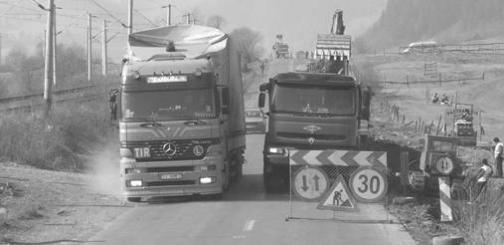 Straßenfernverkehrsalltag in Rumänien