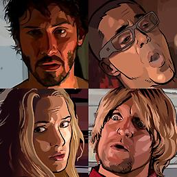 """A Scanner Darkly"": Keanu Reeves - Robert Downey Jr. - Woody Harrelson - Winona Ryder."