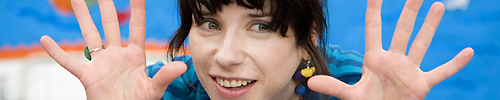 "Sally Hawkins in ""Happy-Go-Lucky"""