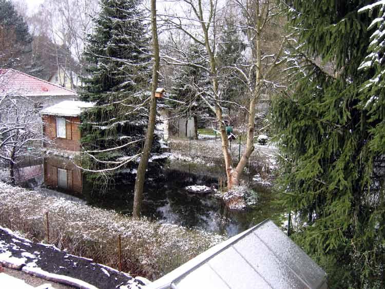 Garten Uebersee Hochwasser