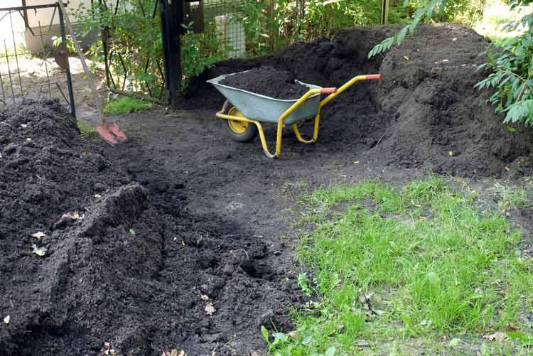 Garten Uebersee auffuellen