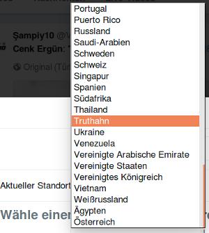 Liste: Thailand, Truthahn, Ukraine