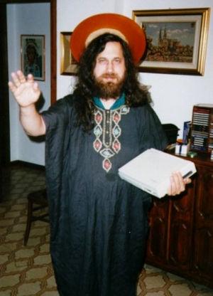 Richard Stallman in Verkleidung als St. Ignucius