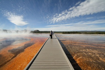 Grand Prismatic Spring im Yellowstone Nationalpark.
