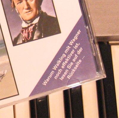 Warum Walking mit Wagner noch effektiver ist,... Werbe-Text auf der CD