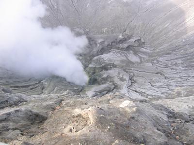 Am Krater des Bromo