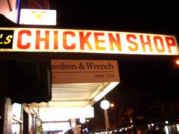 chickenshop on kingstreet, sydney