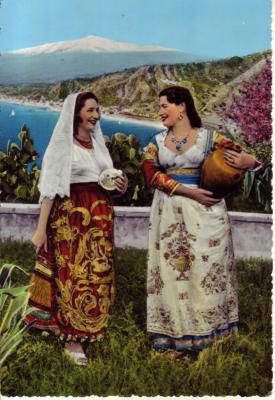 Costumi Siciliani Stampato in Irlanda<br /> Irre Gr&uuml;sse von irgendwo