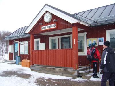Der Bahnhof Abisko Turiststation - der Start unserer Reise