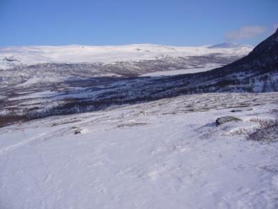 Ein Blick zurück auf den Abiskojaure