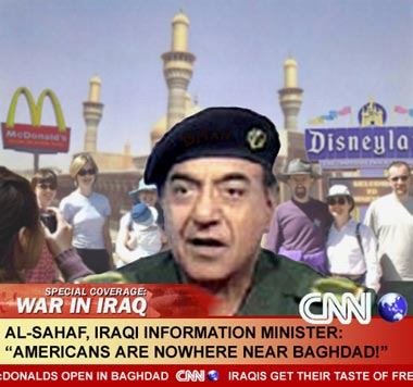 """""""americans are nowhere near baghdad!"""""""