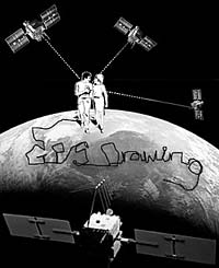 drawing with satellites