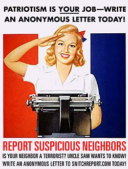 report suspicious neighbors!