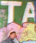 rip @ berlin. smoking on the wall. (pic by raydoo)