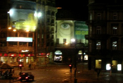 watching eyes in the centre of bucharest