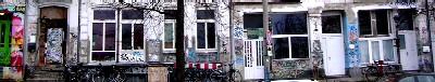 häuserzeile im hafenviertel, hamburg