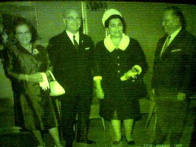 1968: die präsidenten österreichs (jonas) und jugoslawiens (tito) mit ehefrauen im hotel metropol