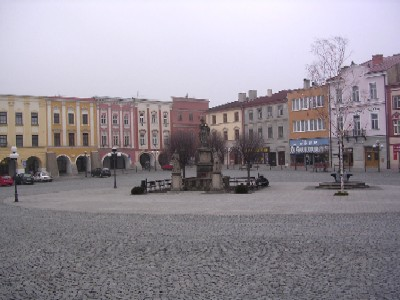 main square in pribor, moravia