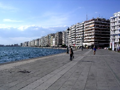 thessaloniki, down at the sea shore