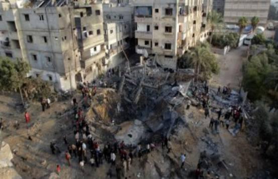 121121_Bombentreffer_Gaza