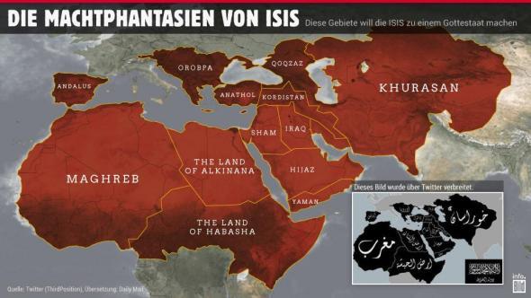 Kalifat-Karte