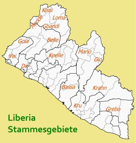 Liberia-Stammesgebiete