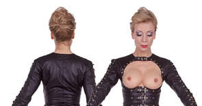 demask leder kleid