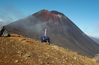 Bagpacks on Tongariro