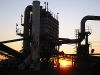 Kawasaki Heavy Industries at sunset