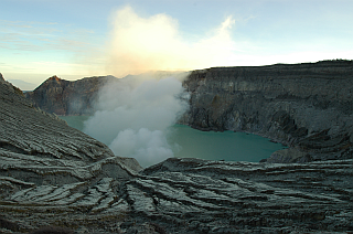 First view on Kawah Ijen