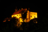 Waldburg in der Nacht