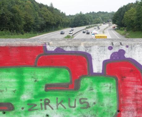 Zirkus-Graffiti