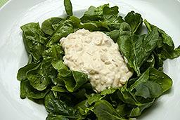 Salat von Blattspinat