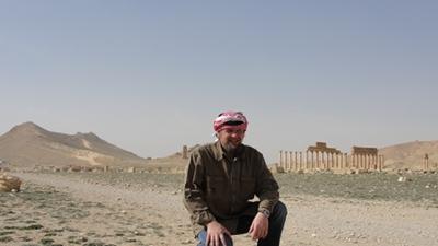 """ein """"echter"""" Beduine in Palmyra (syrische Wüste)"""