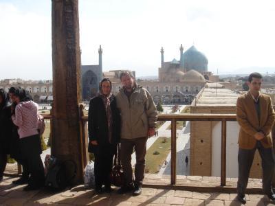 ...auf dem Balkon der Residenz am großen Platz in Isfahan