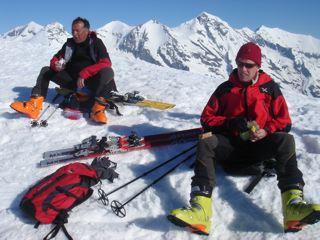 ...die treuen Bergkameraden Harri und Sepp...