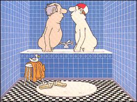 Im Bad eines Hotelzimmers