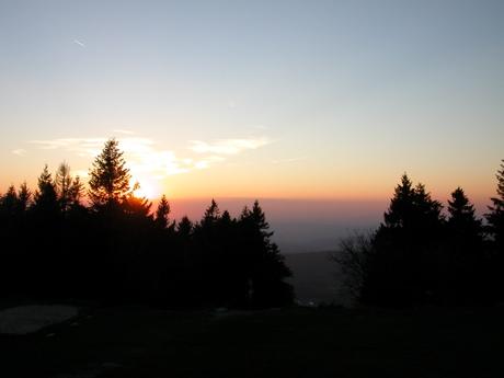 Sonnenuntergang auf dem Feldberg
