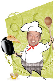 Koch mit Löffel