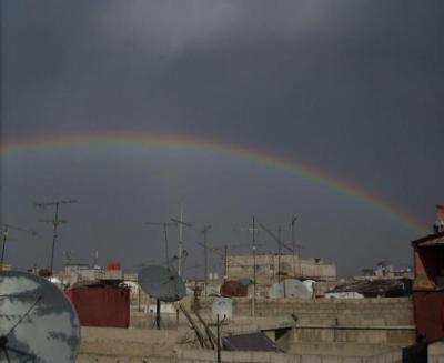Regenbogen in Damaskus