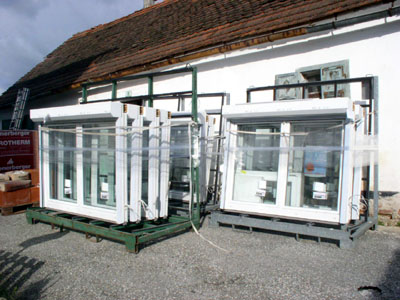 The new Wd8 windows, waiting to be installed.